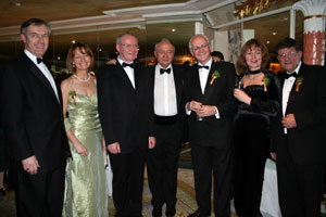 L-R David Cooney, Irish Ambassador to London, Geraldine Cooney, Martin McGuinness Deputy First Minister, Ken Livingstone Mayor of London, John Gormley, Minister for the Environment, Heritage & Local Government, and his wife, Pat Doherty MP Vice Presid