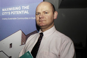 NCF Chair Daithí Doolan who spoke at the Tullamore seminar also participated in a major conference organised by Dublin City Council this week about maximising the city's potential and creating sustainable communities
