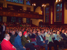 A section of the large crowd in Derry's Guildhall