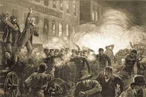 The Haymarket rally, 4 May 1886