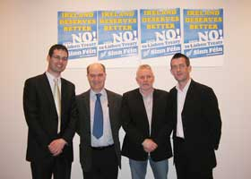 Senator Pearse Doherty, Pádraig Malone, Tom Collopy and Maurice Quinlivan
