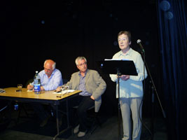 PANEL: Chair Eugene McCartan, journalist Frank Connolly and Dr Mary Cullen