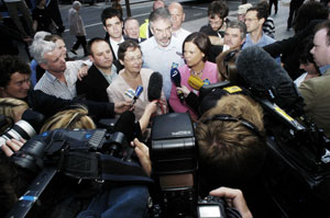 Sinn Féin gave its final press conference of the Lisbon Treaty referendum campaign on Dublin's Henry Street on Tuesday