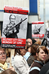 CLEAR MESSAGE: : Anger at US policy in Middle East demonstrated in Belfast