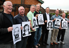 H-Block escapees Joe Simpson, Jimmy Burns, Robert Russell, Bobby Storey, Gerry Kelly, Jim McCann and Harry Murray