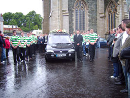 CORTEGE: The funeral of Emmett Shiels