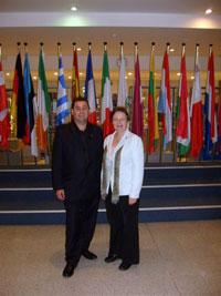 Willie Clarke MLA, in Brussels with Sinn Féin MEP Bairbre de Brún