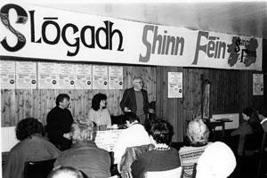 Slógah Shinn Féin roinnt bliain ó shin
