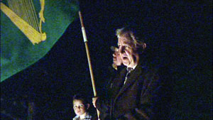 VIGIL: Sinn Féin's Gerry O'Neill at one of the recent protests
