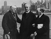 Fr. Michael O'Flanagan in New York campaigning for the Spanish Republic with, right, IRA veteran from Navan, Gerald O'Reilly, a founder of the Transport Workers Union of the United States