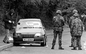 The car in which Karen Reilly and Martin Peake died