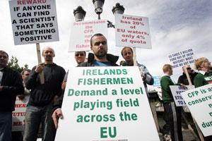 PROTEST: Fishermen demonstrate in Dublin