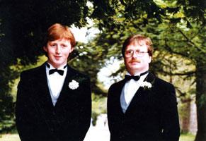 Volunteers Martin Harte and Gerard Mullin
