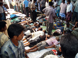 MASSACRE: 61 tsunami orphans died in a Tamil children's home targeted by the Sri Lankan Air Force