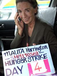 HUNGER STRIKE: Maura Harrington