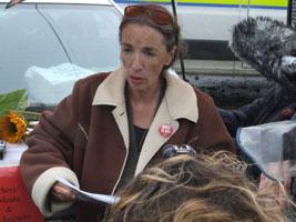 DETERMINED: Maura Harrington ends her hunger strike