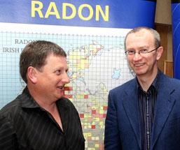 Sinn Féin Councillor Willie O'Regan with David Fenton