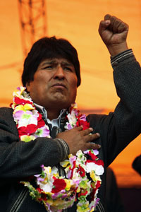 MORALES: Latin America's first elected indigenous leader
