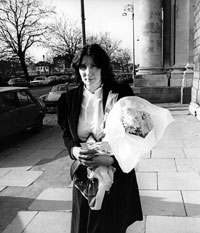 APPEAL: Eileen Flynn outside the Four Courts on the first day of her appeal in 1984