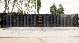 'WAR PARK'?: The memorial unveiled in Mayo this week