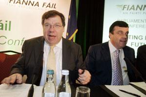 NEW DIRECTION: Sinn Féin has positive ideas about the way forward for Brian Cowen and Brian Lenihan