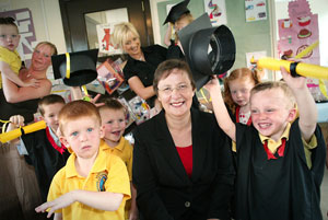 EDUCATION MINISTER: Graduation day at St Enda's, Newtownabbey, 2005