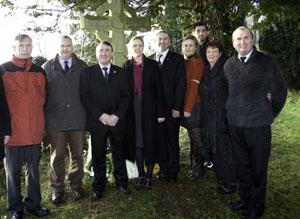 Pictured at the Manchester's Martyrs Commemoration councillors of West Cork Sinn Féin Noel Harrington, Cionnaith Ó Súilleabháin, Councillor John Desmond,  Toireasa Ferris, Sinn Féin Candidate for Ireland South in the up-
