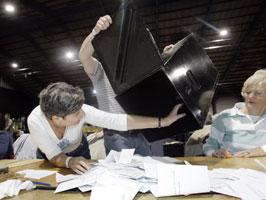 REFERENDUM COUNT: The Irish people rejected the Lisbon Treaty