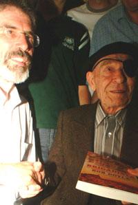 SOLIDARITY: Gerry Adams with Bob at the launch of Brigadista