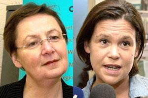 Sinn Féin MEPs Bairbre de Brún and Mary Lou McDonald