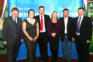 SELECTED: Sinn Féin candidates in County Louth, Cllr. Pearse McGeough, Edel Corrigan, Cllr. Tomás Sharkey, Cllr. Imelda Munster, Paddy McQuillan and Cllr. Jim Loughran