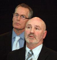 Gerry Kelly and Alex Maskey at the Ard Fheis