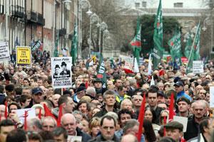 Laurel and Hardy: A Sinn Féin poster lampoons Gormley and Cowen