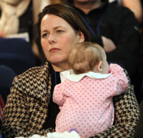 Michelle Gildernew and baby Aoise