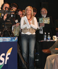 IN FOCUS: Michelle O'Neill waits to speak