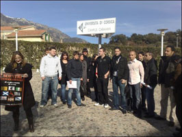 CORSICA: The Ógra delegation with comrades from around the globe