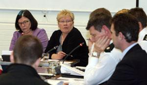 HIGHFIELD: Máire Cush at the District Policing Partnership