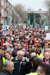 TAKING TO THE STREETS: More people are becoming politicised by the current crisis