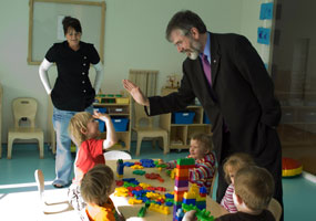 GIMME FIVE: Gerry gets down with the kids