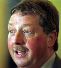 IN THE AIR: Sammy Wilson's views are under an even bigger cloud