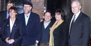 AT O'LUNNEY'S: Sean Downes, Sinn Féin MLA Martina Anderson, Fr. Michael Lapsley, Brendan Fay, Mary Elizabeth Bartholomew, Gen. James Cullen