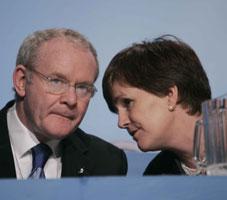 Martin McGuinness and Caitríona Ruane