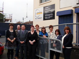 Education Minister Caitríona Ruane on a visit to Dove House in Derry