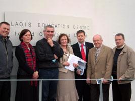 Sinn Féin's Alan Hand, Ann Curtin (INTO), Eamonn Dennehy (ASTI), Mary Higgins (TUI), Sinn Féin EU candidate and TUI member Tomás Sharkey, Joe Hickey (INTO) and Cllr Brian Stanley at the Laois Education Centre in Portlaoise