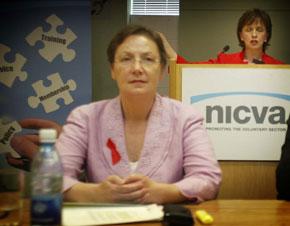 NICVA conference: Sinn Féin's Bairbre de Brún and DUP's Dianne Dodds