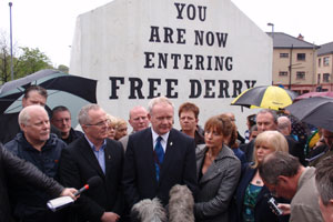 DETERMINED: Martin McGuinness says republicans will not be intimidated by so-called 'dissidents'