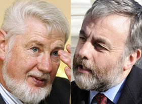 ICTU chief David Begg and SIPTU's Jack O'Connor
