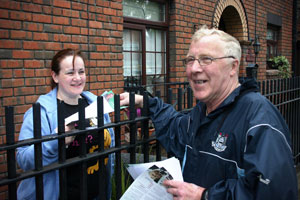 DUBLIN THROUGH AND THROUGH: Christy Burke on one of his regular constituency rounds, now for the election