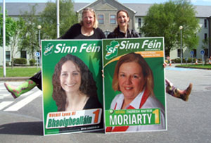 GIVING IT SOME WELLY: Dingle candidate Theresa Rafter-Moriarty and Killarney candidate Lynn Ní Bhaoighealláin