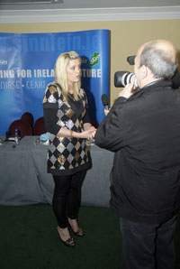 MEDIA FRIENDLY: Toiréasa Ferris faces the camera